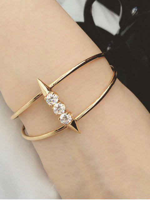 women's Rhinestone Rivet Cuff Bracelet -   Mobile