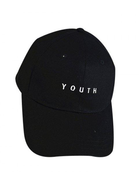 shop Letter Baseball Cap - BLACK  Mobile