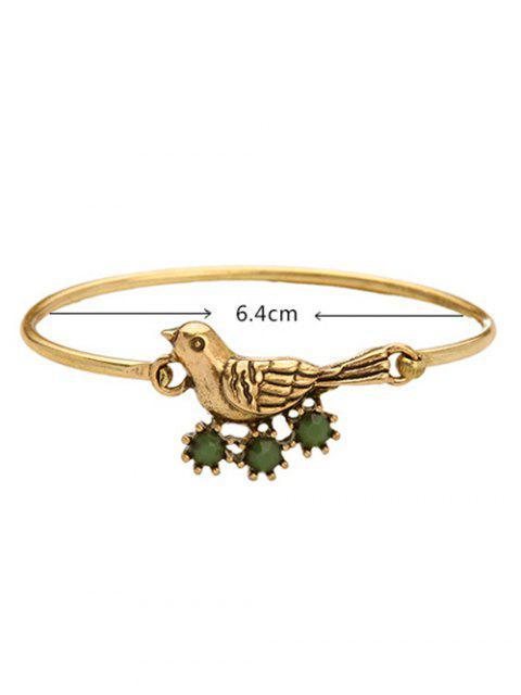 chic Bird Rhinestone Bracelet - GOLDEN  Mobile