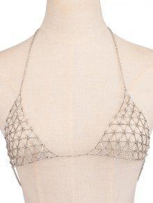 Triangle Body Chain - Silver