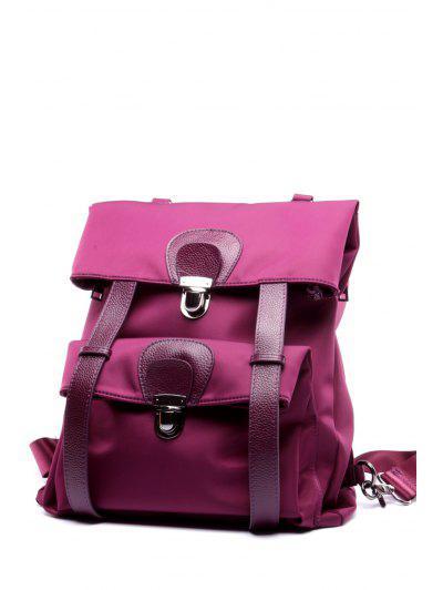 Nylon Splicing Backpack - Purple