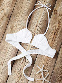 Halter Sea Shell Bikini Bra - White Xl