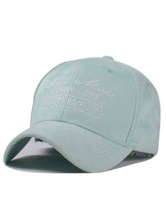 355112c9298 ... best sell ee650 8e5b3 latest Letter Faux Suede Baseball Hat - MINT GREEN  ...