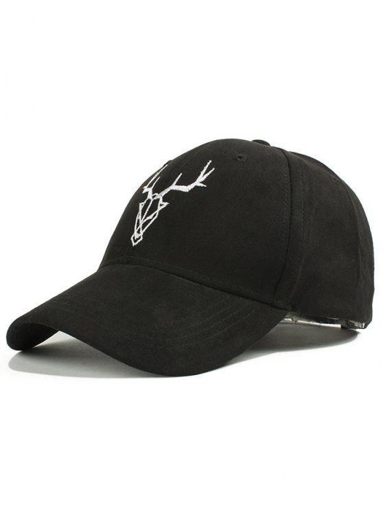 d6f9593c8 Elk Head Faux Suede Baseball Hat