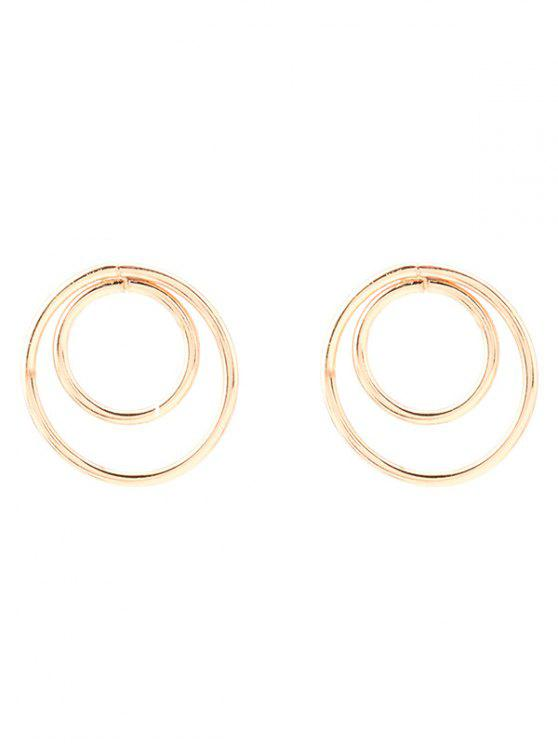 women's Minimalist Design Circles Earrings - GOLDEN