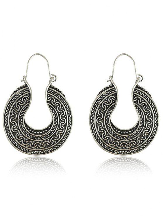 shops Engraved Round Drop Earrings - SILVER