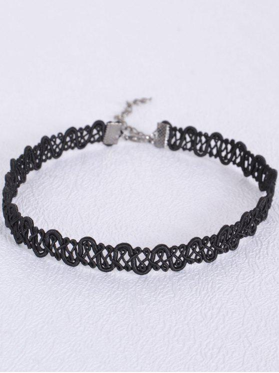 women's Crochet Hollowed Choker - BLACK