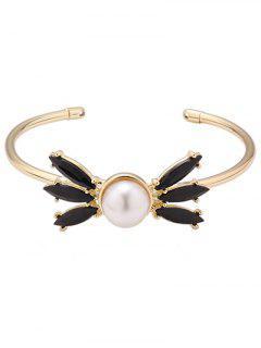 Alloy Faux Pearl Bracelet - Golden