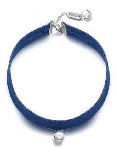 Vintage Faux Pearl Choker Necklace Jewelry For Women - Blue