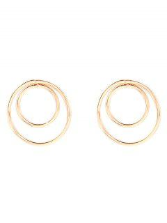 Minimalist Design Circles Earrings - Golden