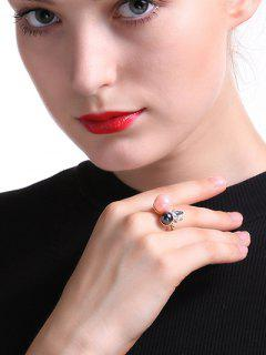 Faux Crystal Triangle Ring - Golden One-size