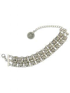 Vintage Hollowed Coin Bracelet - Silver