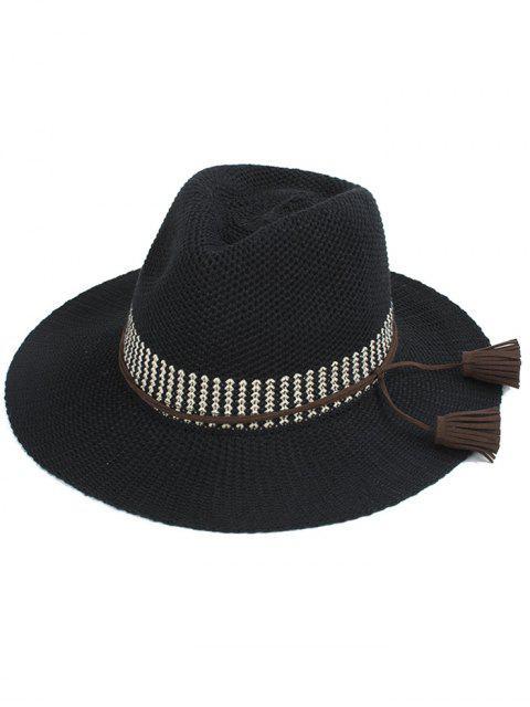 sale Tassel Lace-Up Sun Hat -   Mobile