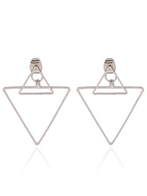 new Hollowed Triangle Punk Ear Jackets - SILVER  Mobile