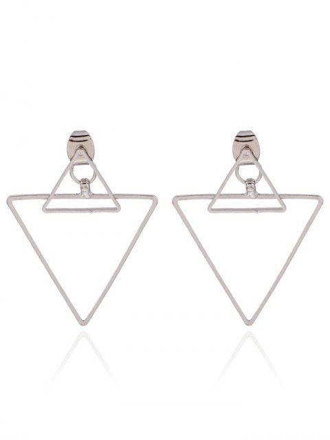 boucles d'oreilles en forme de triangle évidé - Argent  Mobile