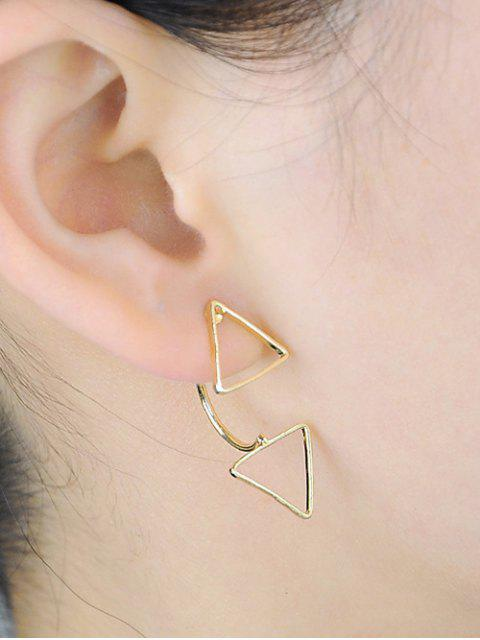 Boucles d'oreille triangle - Or  Mobile