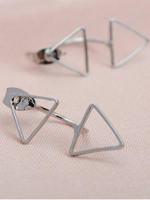 Boucles d'oreille triangle - Argent  Mobile