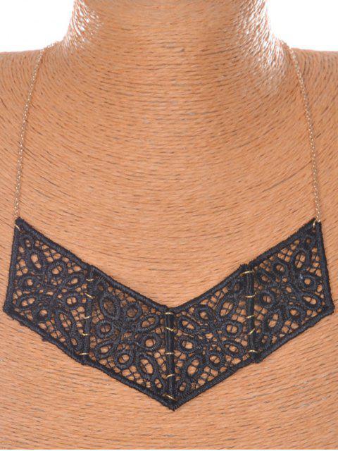 Floral V-collar en forma de - Negro  Mobile