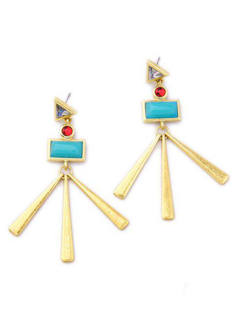 outfits Geometric Matchstick Earrings - LAKE BLUE  Mobile