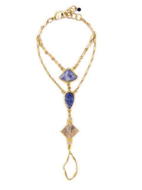 shop Multilayered Geometric Bracelet - GOLDEN  Mobile