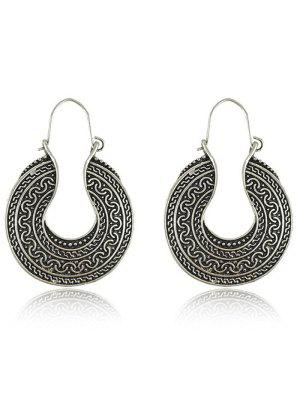 Engraved Round Drop Earrings