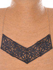 Floral V-collar En Forma De - Negro