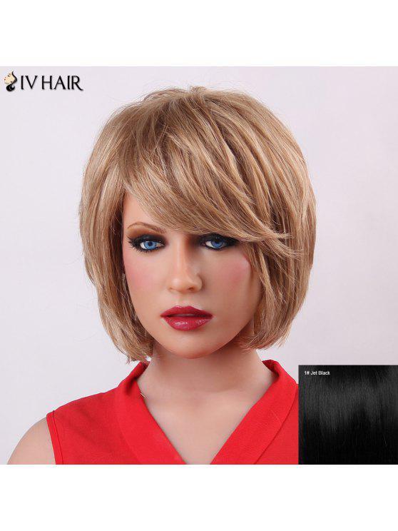 رقيق قصير الطبقات سيف الشعر العصرية الطبيعية على التوالي كابليس شعر مستعار الإنسان للنساء - أسود كالفحم