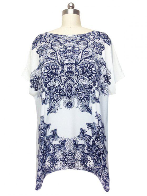 731fa59e59f 2019 Stunning Cap Sleeve Floral Blouse For Women In WHITE ONE SIZE ...