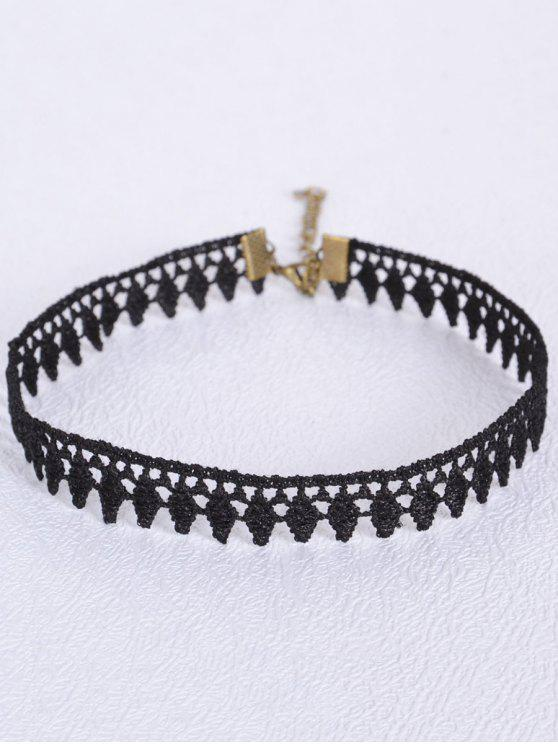affordable Leaf Choker - BLACK
