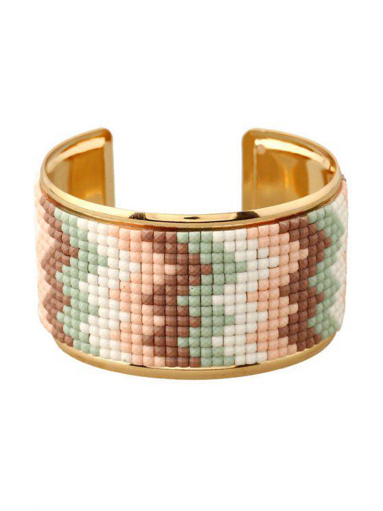 online Wave Resin Cuff Bracelet - COFFEE