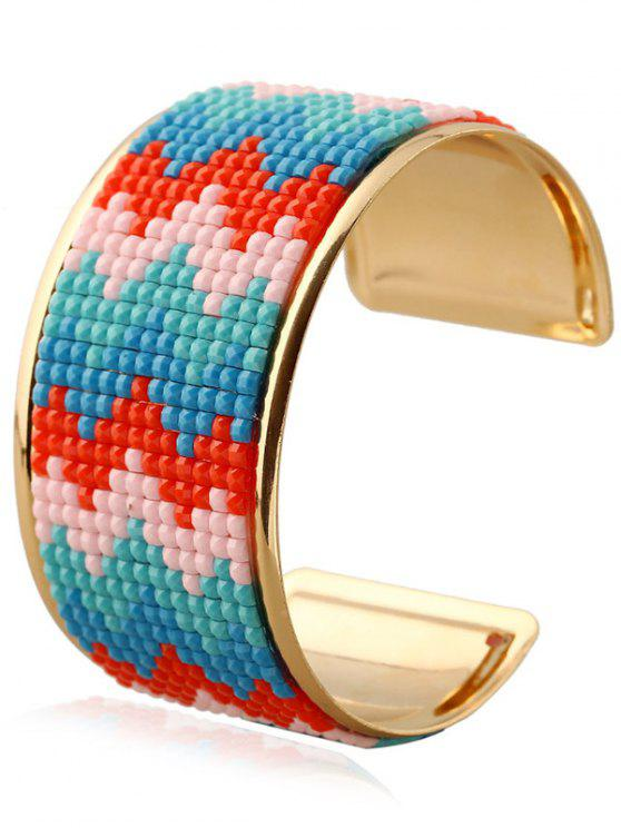 hot Wave Resin Cuff Bracelet - BLUE