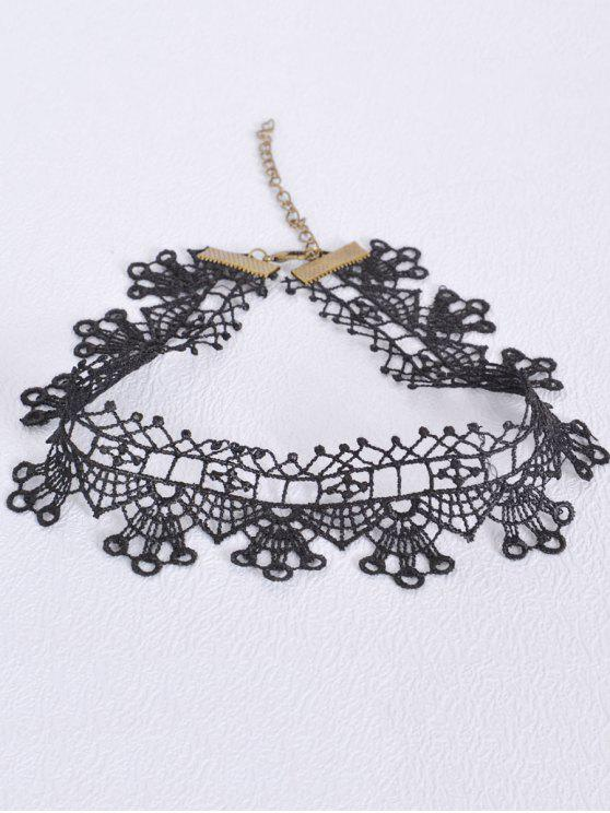 womens Hollow Out Geometric Choker - BLACK