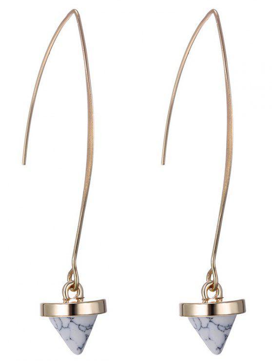 chic Faux Rammel Geometric Earrings - WHITE