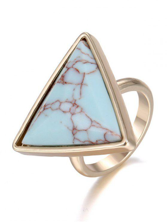 shops Triangle Faux Rammel Ring - GREEN ONE-SIZE