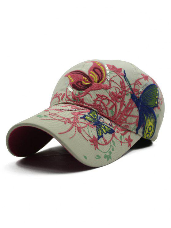 outfit Rattan Butterfly Embroidery Baseball Hat - OFF-WHITE