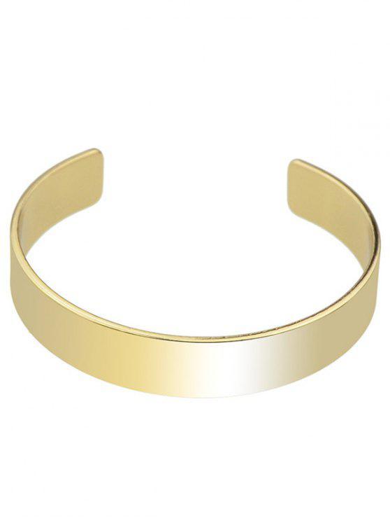 trendy Polished Cuff Bracelet - GOLDEN