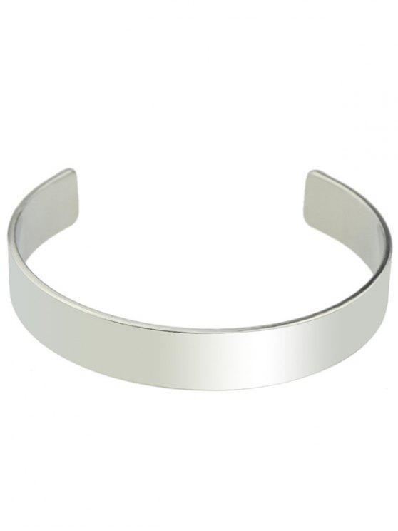 fashion Polished Cuff Bracelet - SILVER