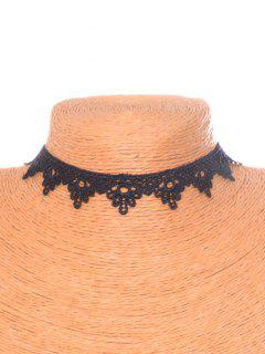 Floral Triangle Choker - Black