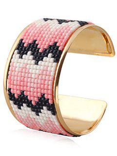 Wave Resin Cuff Bracelet - Pink