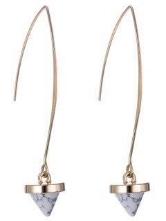 Faux Rammel Geometric Earrings - White