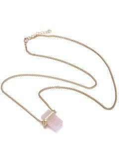 Artificial Crystal Sweater Chain - Pink