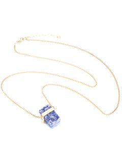 Cadena Cristalina Del Suéter Artificial - Azul