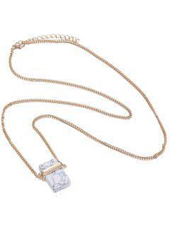 Faux Rammel Pull Chain - Blanc