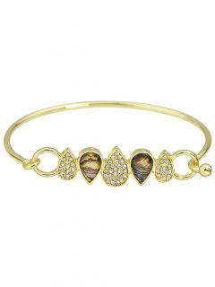 Rhinestone Water Drop Bracelet Jewelry - Golden