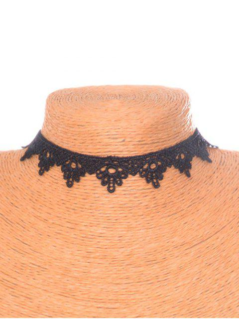 chic Floral Triangle Choker -   Mobile