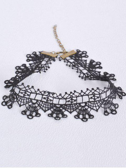 womens Hollow Out Geometric Choker - BLACK  Mobile