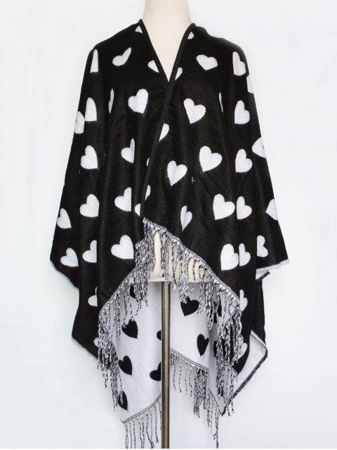 buy Sweet Heart Tassel Pashmina - BLACK  Mobile