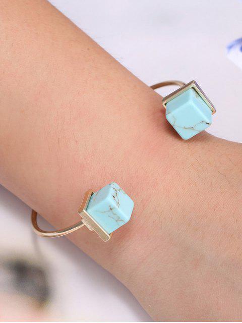 womens Square Faux Rammel Bracelet -   Mobile