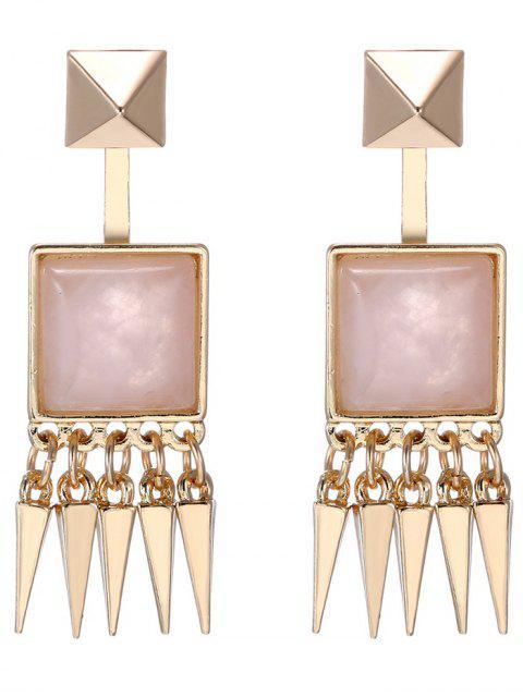 ladies Faux Gem Rivet Earrings -   Mobile