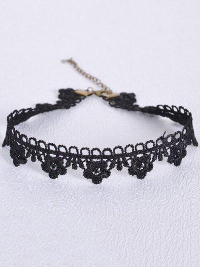 Hollowed Flower Choker - Black